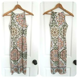New Tapestry Print Bodycon Dress